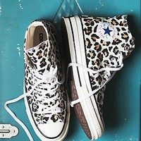 Converse Womens Leopard Hi Top Chucks