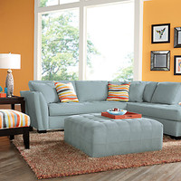 Cindy Crawford Home Calvin Heights Hydra 2 Pc Sectional - Living Room Sets (Blue)