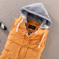 Sleeveless Quilted Puffer Hooded Coat