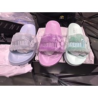 Rihanna x Puma Leadcat Fenty Sandal Women Purple Mint Green Sky Blue Slipper