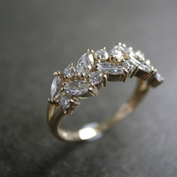 Final - Marquise Diamond Wedding Ring in 14K Yellow Gold