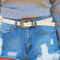 So Frosty Belt: Eggshell/Silver
