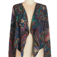 ModCloth 70s Mid-length Long Sleeve Funky In the Middle Jacket