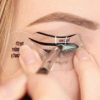 2 Pcs Magic Eyeliner Stencil Model Beginner Eye Makeup Beauty