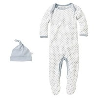 Burts Bees Baby™ Newborn Boys' Coverall and Hat Set - Sail Blue