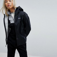 Patagonia Torrentshell Jacket In Black at asos.com
