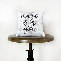 Magic is in You Moon and Stars | Throw Pillow Cover  | Baby Nursery Decor | Baby Shower Decorations | Nursery Pillow | Gift Ideas