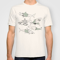 Business Casual Sharks T-shirt by Kate Thornley | Society6