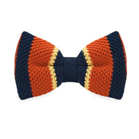 Men's Fashion Orange Blue Knitting Adjustable Wool For Wedding Party Business