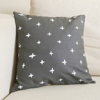 Charcoal Grey Plus Linen Pillow - 13 x 13 in.