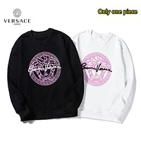 Versace autumn and winter new fashion loose cotton hooded sweater