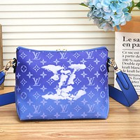 LV Louis Vuitton Crossbody Bag LV Letters Print Chain Bag Shopping Bag