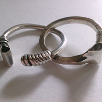 Crop Me Naughty - Sterling Silver Open Ring