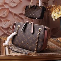 LV Louis Vuitton WOMEN'S MONOGRAM LEATHER SHOULDER BAG