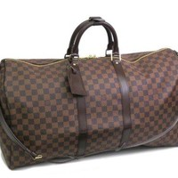 Louis Vuitton Keepall Bandouliere 55 Damier Ebene