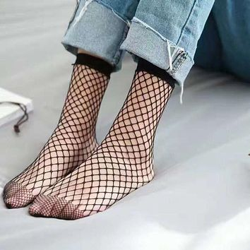 Mesh Fishnet Nylon Socks