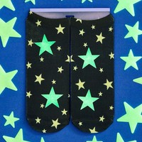 Glow in the Dark Star Ankle Socks - Comes with FREE Set of Glow in the Dark Stars!