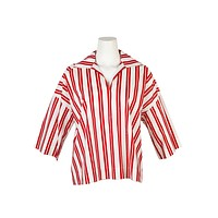 Balenciaga Womens Red Striped Sailor Top