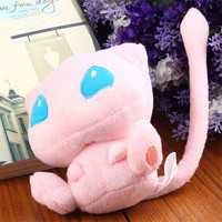 (1pcs) pink Cute Pokemon Rare Mew polyester Plush Soft Doll Toy Gift 2015 Hot