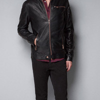 FAUX LEATHER JACKET - Man - New this week - ZARA United States