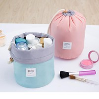 High Quality Barrel Shaped Makeup Travel Bag