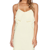 BCBGeneration Flounce Front Dress in Yellow