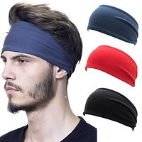 Unisex Solid Color Sport Stretch Headband