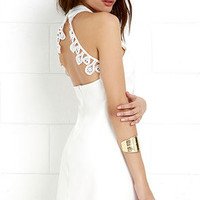 Greatest Gift Ivory Lace Dress
