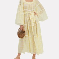 Sheer Peasant Dress