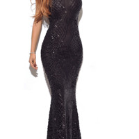 Melika Black Evening Dress