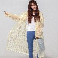 Outdoor point raincoat EVA environmental Raincoat One Size rain poncho Fashion ponit Rainwear Rain Cover