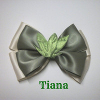 Princess Tiana / Princess and the Frog Bow by littlebowchicdesigns