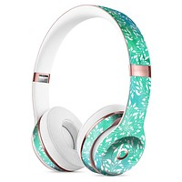 Green and Blue Wtaercolor Fractal Pattern Full-Body Skin Kit for the Beats by Dre Solo 3 Wireless Headphones