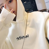 Hoodies Women Sweatshirts Autumn Winter Pullovers Harajuku Hoodie Women Plus Size 3XL Oversize Cotton Women Sweatshirts 2018