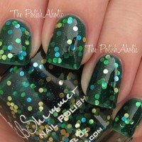 Get Clover It Green Jelly Nail Polish with Circle Dot Glitters