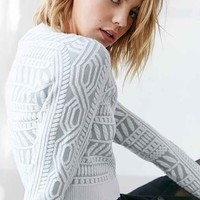 Glamorous Risen Texture Cropped Sweater