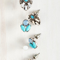 Fancy, Fancier, Fanciest Earring Set | Mod Retro Vintage Earrings | ModCloth.com