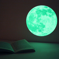 CLAIR DE LUNE moonlight wall-sticker -Medium (glow-in-the-dark sticker)