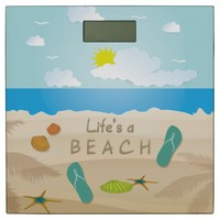 Flip Flops in the Sand Adorable Bathroom Scale