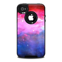 The Vivid Pink and Blue Space Skin for the iPhone 4-4s OtterBox Commuter Case