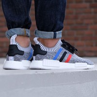 Best Online Sale Adidas NMD R1 PK - Tri Color - White Boost Sport Running Shoes Classic Casual Shoes Sneakers