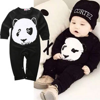Newborn Toddler Baby Boys Girls Panda Romper Jumpsuit One-pieces Long sleeve jumpsuit infant clothing