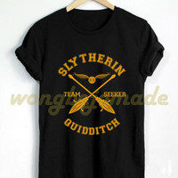 Slytherin Shirt Slytherin House Quidditch Tshirt Harry Potter T Shirt Black and Navy Color Unisex T-Shirt