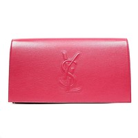 Saint Laurent YSL Belle De Jour Large Pink Envelope Clutch Bag 361120