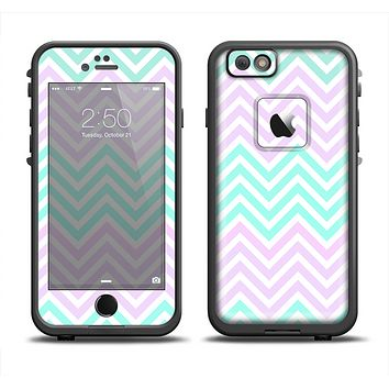 The Light Teal & Purple Sharp Chevron Apple iPhone 6 LifeProof Fre Case Skin Set
