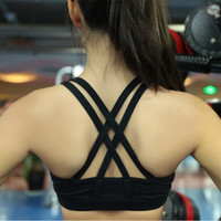 Criss Cross Back Sport Suit Fitness Sportswear Stretch Exercise Yoga  _ 2142