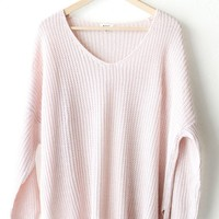 Dusty Mauve Knit Sweater