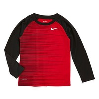 Toddler Boy's Nike 'Chase Stripes' Dri-FIT Long Sleeve T-Shirt