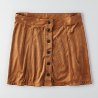 AEO Front Button Soft Skirt