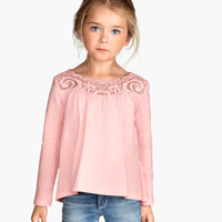 H&M Top with Lace Yoke $9.95